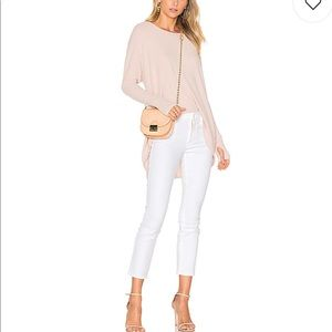 "NWT! Mother ""The Looker Crop"" White Denim, 31"